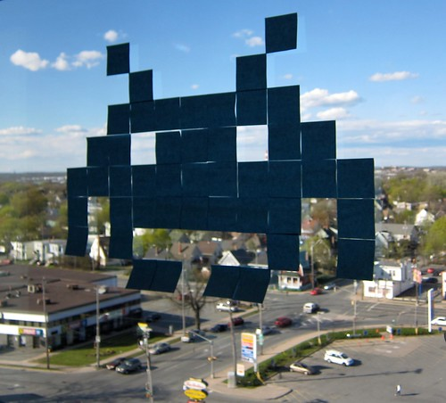 Space Invaders Post-It pixel art | by Scott-Simpson