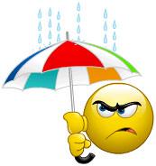 Smiley Im Regen