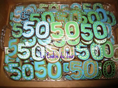50th Birthday Celebration Cookies Happy 50th Birthday