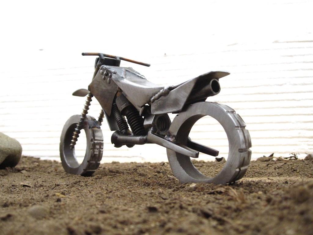 Welded Motorcycle Art