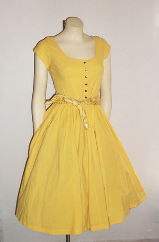 Yellow Vintage Dress - Dress Xy