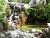 Cascade du ruisseau de Peralzone (vue vers l'amont) - Trajet utilisé avant restauration du chemin historique