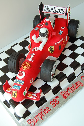 Race Car Driver Cake Topper