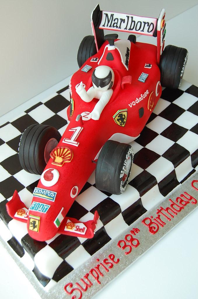 Ferrari F1 Race Car Birthday Cake Diagonal Car Was Const Flickr