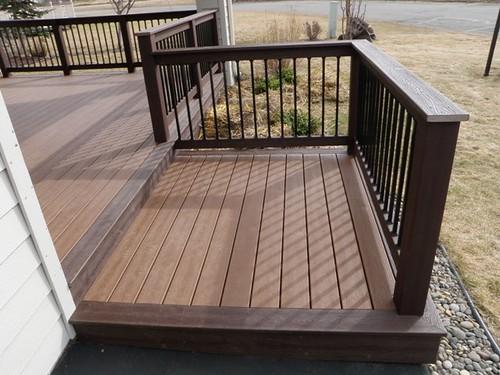 large trex decking porch   Deck design ideas trex cedar hardwood Alaskan0164   Trex ...