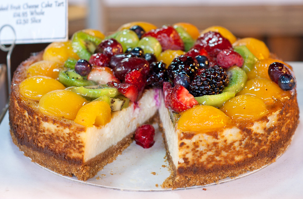 Fruit Topped Fruit Cake