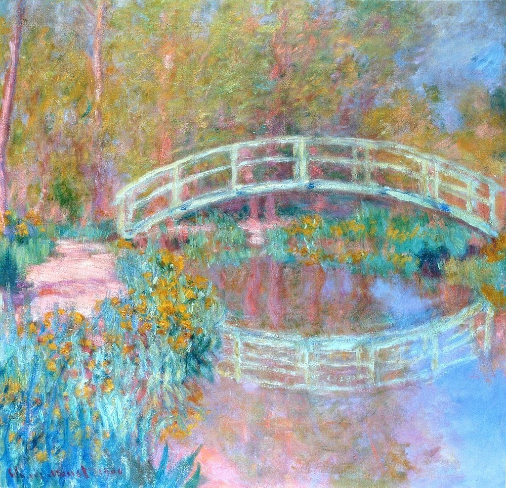 pont dans le jardin de monet c monet w 1419a huile. Black Bedroom Furniture Sets. Home Design Ideas