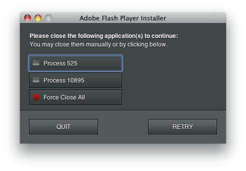 Adobe Flash Player installer error | by Hellbox