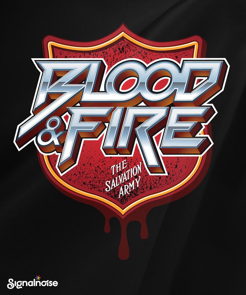 Salvation Army u0026#39;Blood u0026 Fireu0026#39; t-shirt : Here is a t-shirt de ...