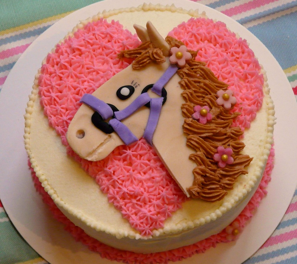 How To Decorate A Horse Head Cake