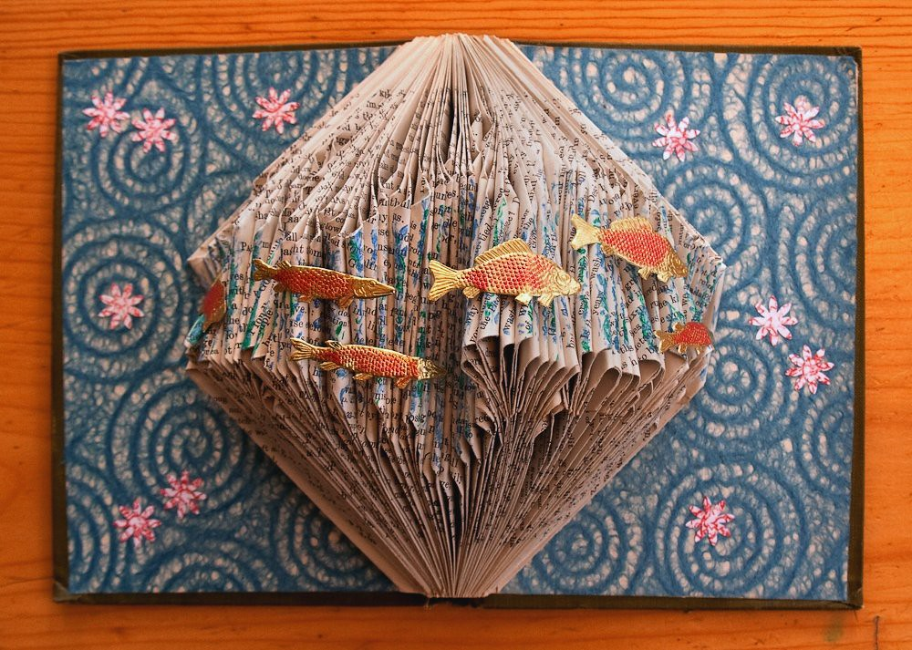 Altered Book Swimming In A Sea Of Words I Love Playing