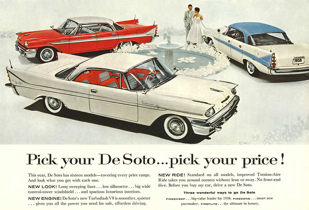 1958 ... pick your DeSoto! | [all images] click for large -a… | Flickr
