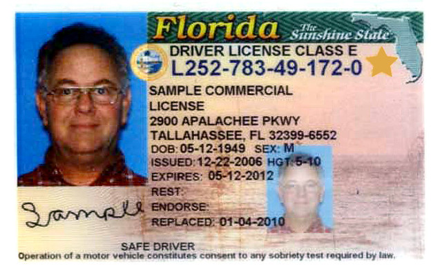Florida Learners Permit >> Florida ID Example | When you go to a driver license office … | Flickr