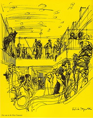 Passenger Terminal at London Heathrow Airport - illustration by Feliks Topolski - 1956