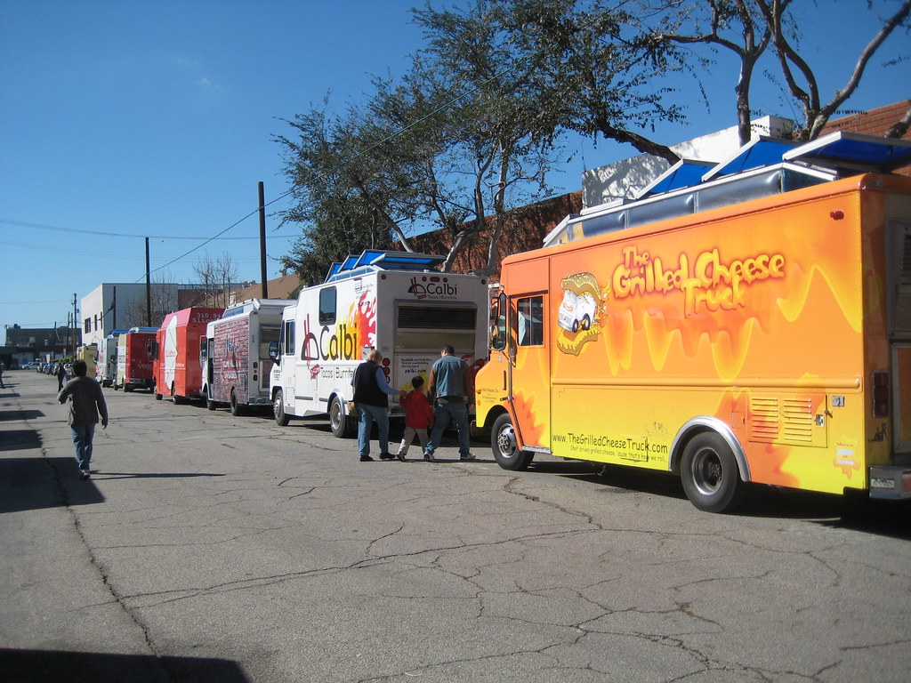 Food Trucks At The Haiti Benefit