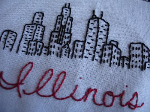 My Embroidered Chicago Skyline I Love The Way It Turned O Flickr