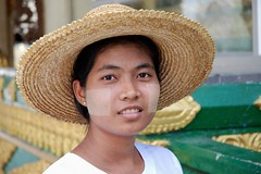 Farmer woman in Shwe Dagon Pagoda, Yangon, Myanmar | by yrakam
