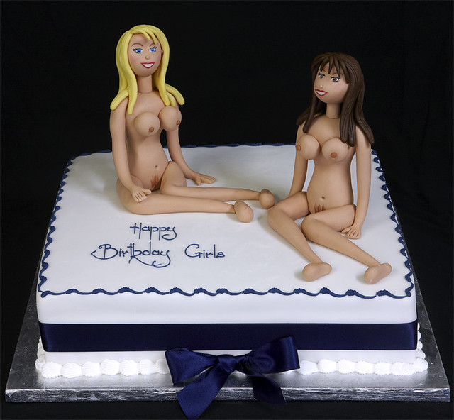 naked women birthday cakes