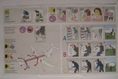airline safety card | by Loro Kidul