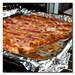 bacon cooking in oven