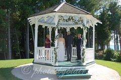 Mackinac island gazebo wedding