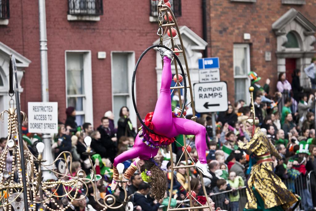 Street parade in Dublin, IRELAND.