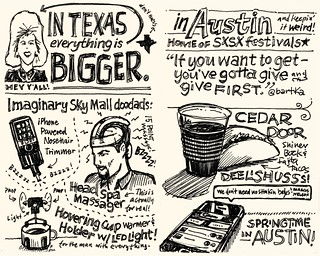 SXSW Interactive 2010: On the Plane / In Austin | by Mike Rohde