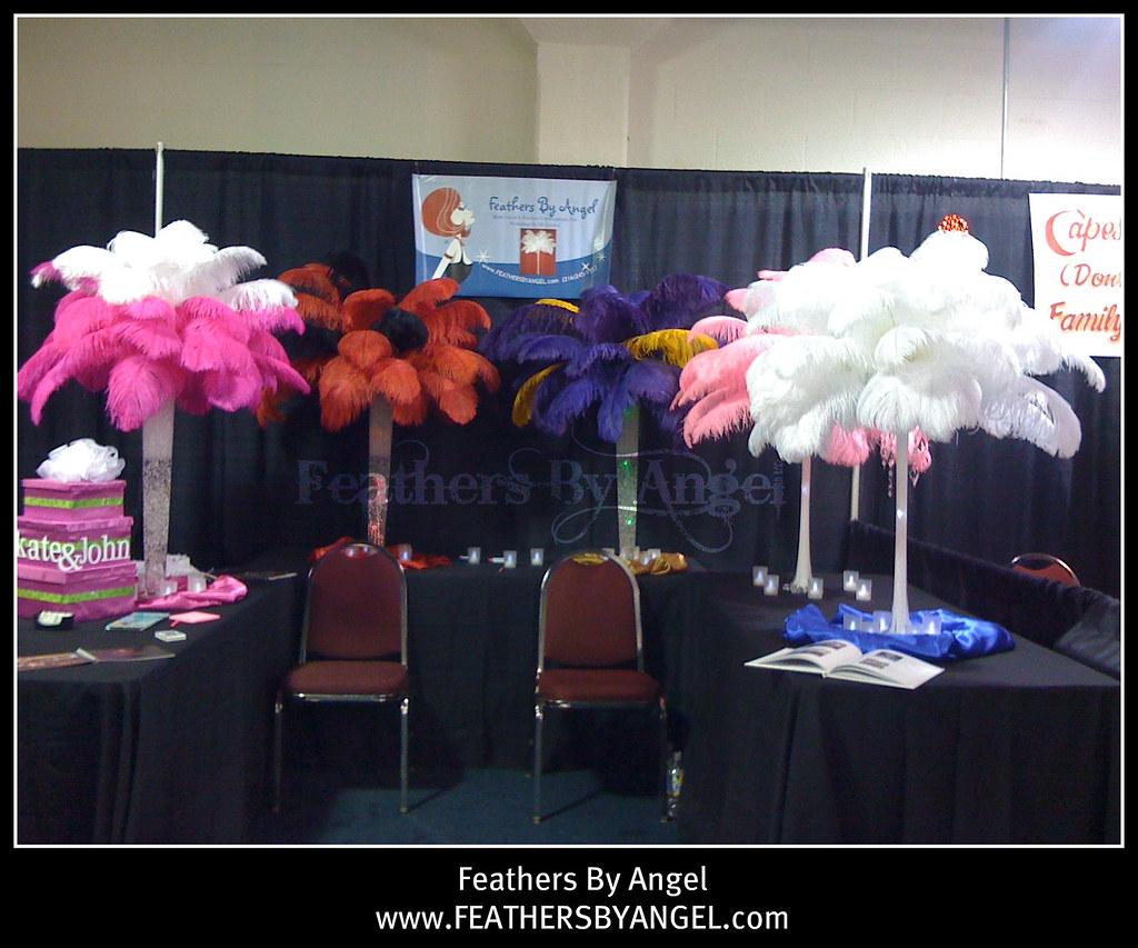Rent ostrich feather centerpieces