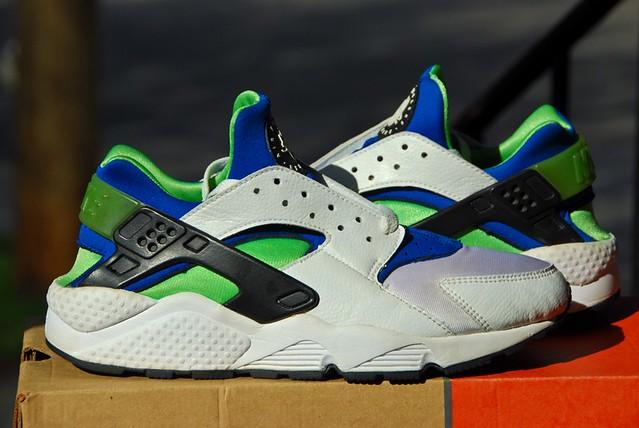 Green White Nike Shoes