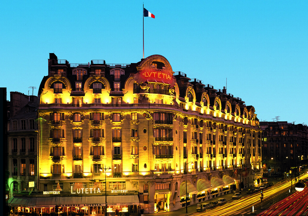 Facade with french flag of the art deco and historical hot for Design hotels of france