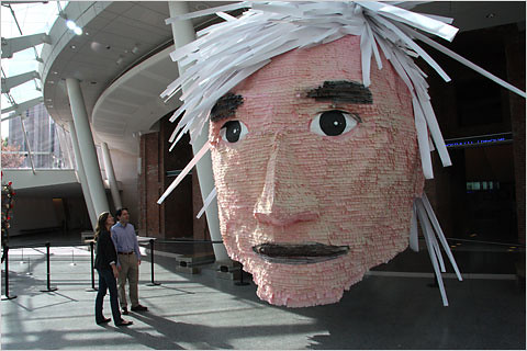 Andy Warhol pinata (at the Brooklyn Museum) | by CUBIST LITERATURE!