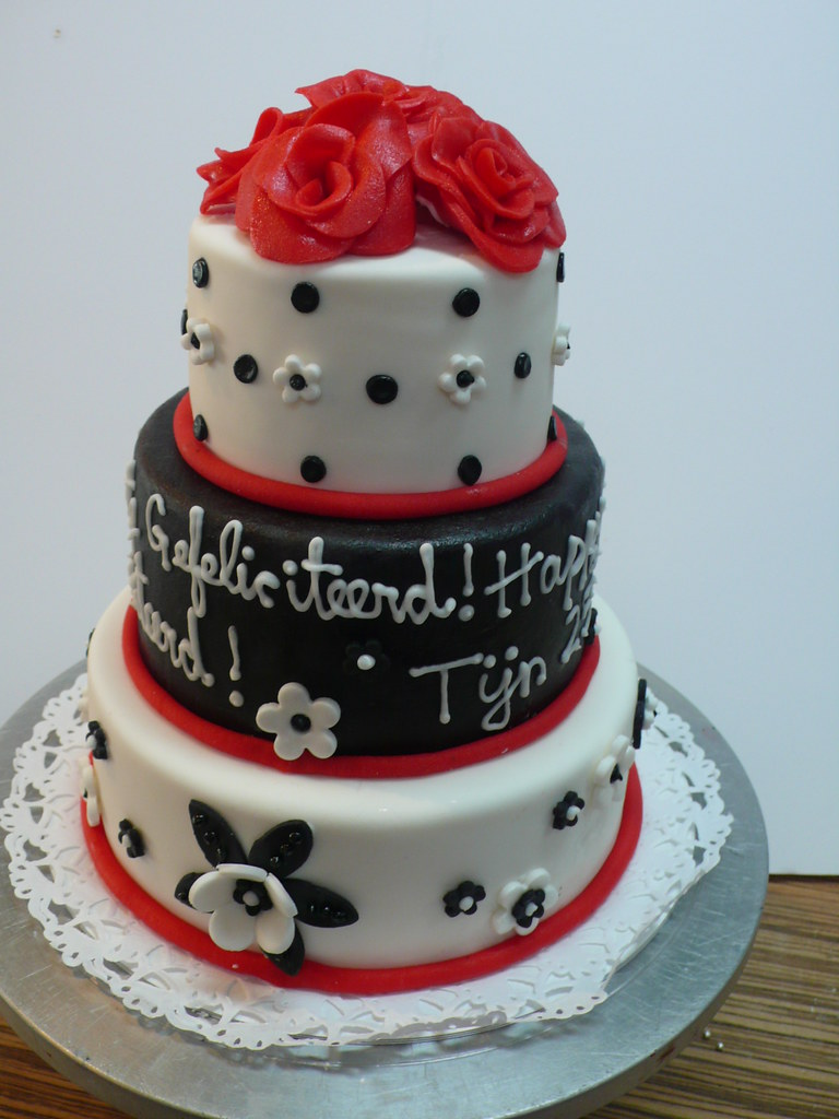 Black White Decorated Cakes