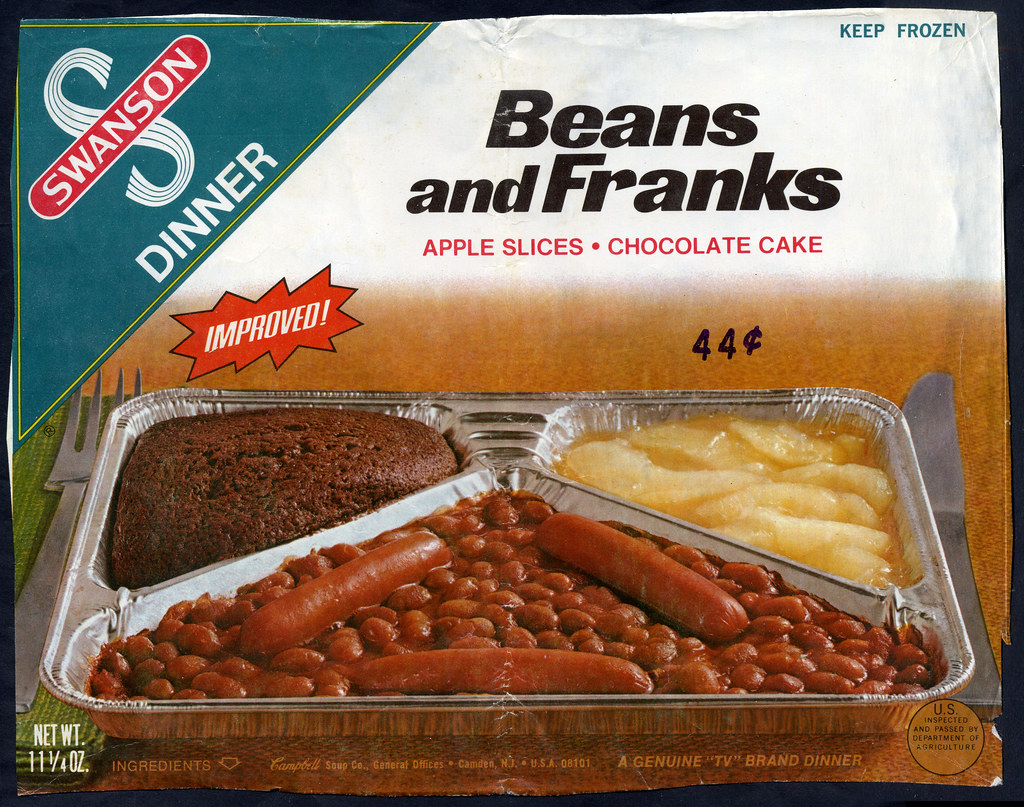 Swanson Beans And Franks Tv Dinner Box Front Panel L
