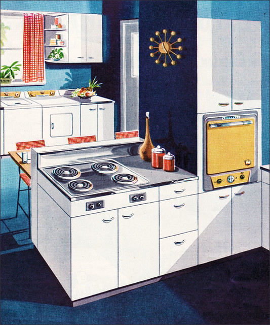 Vintage Kitchen Photography: 1953 Thor Electric Kitchen