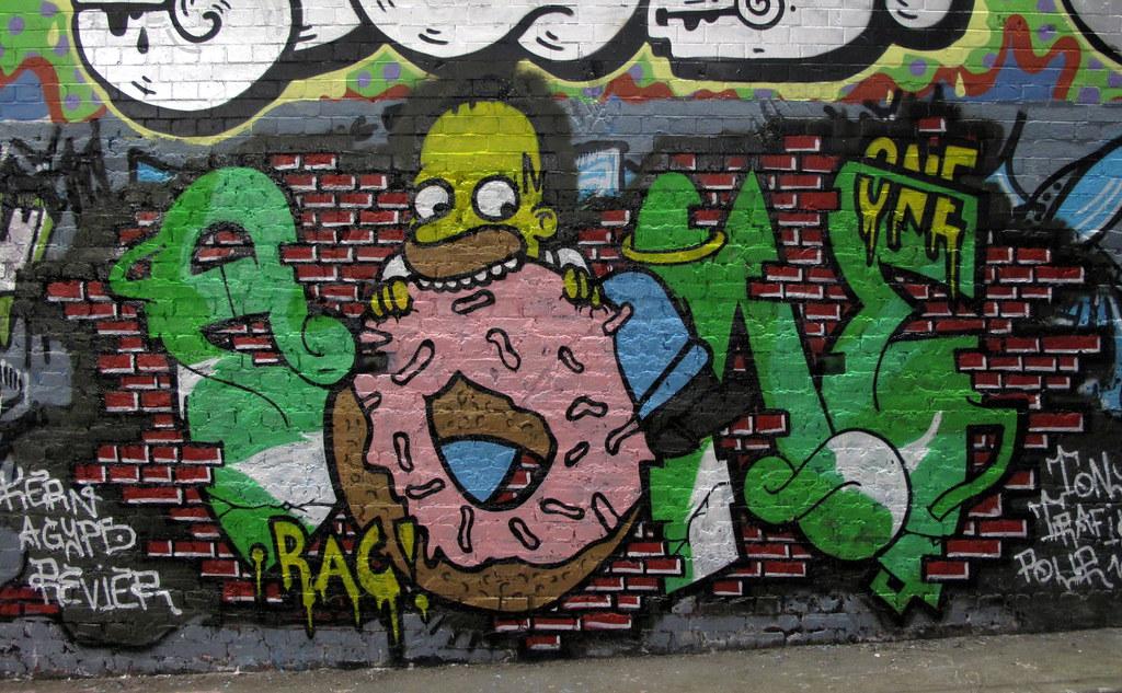Homer Simpson Graffiti Duncan C Flickr