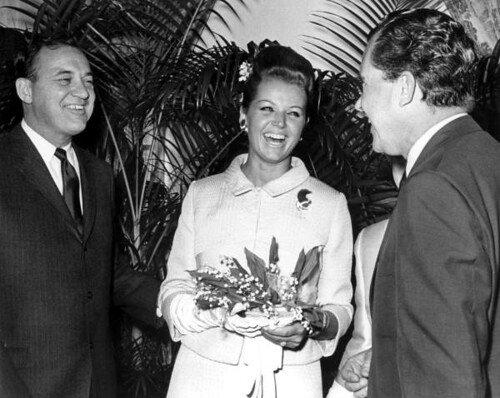 Richard Nixon laughing with Governor Claude Kirk and bride, Erika Mattfield Kirk, during their wedding celebration: Palm Beach, Florida | by State Library and Archives of Florida