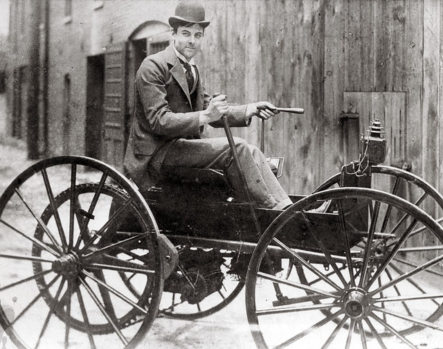 Free Car History Report >> J.D. Perry Lewis and his battery powered car, ca. 1893 ...
