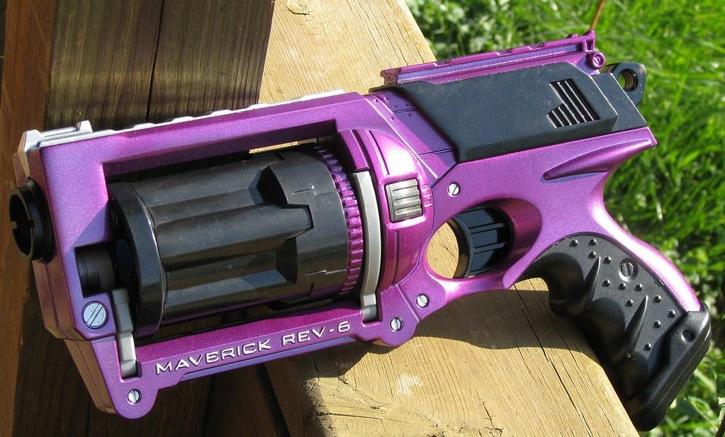 Purple Paint Colors >> Purple and black Nerf Maverick, beauty shot | The Metalcast … | Flickr