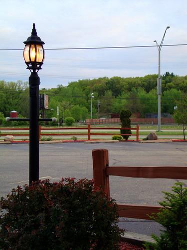 lamp post and fence at paul bunyan 39 s parking lot mark flickr. Black Bedroom Furniture Sets. Home Design Ideas