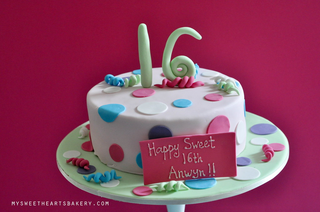 Sweet 16 Birthday Cake Mysweetheartsbakery Flickr