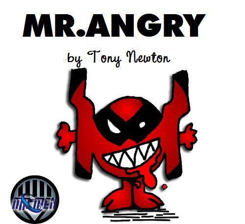 mr angry dcs blackest night red lantern logo as a mr man