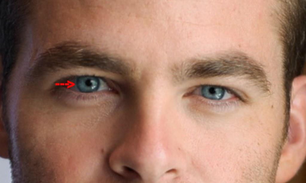Chris Pine 15 This Lighter Halo Around The Iris At The