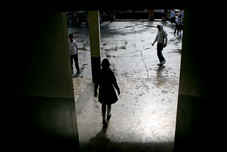 Entering a high school courtyard | by World Bank Photo Collection