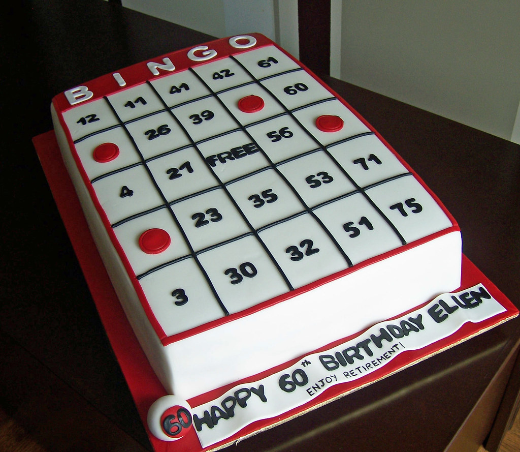Bingo Card Cake This Cake Was For A 60th Birthday