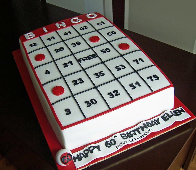 Bingo Card Cake Flickr Photo Sharing