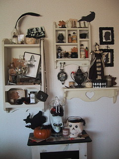 Black and Cream witch's cupboard Halloween 2010 | by bewitchedmagic