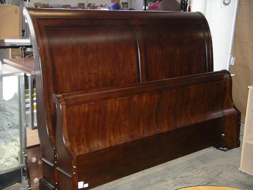 "King Sleigh Bed Frame $750 | 81.5"" W x 59"" H headboard ..."
