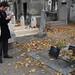 A photograph of me taking a photograph of Felix Guattari's grave