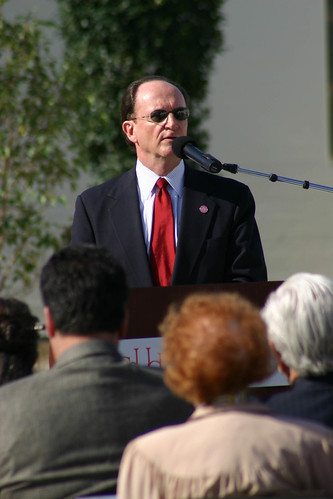 President rush speaking at Dolphin Fountain Dedication | by California State University Channel Islands