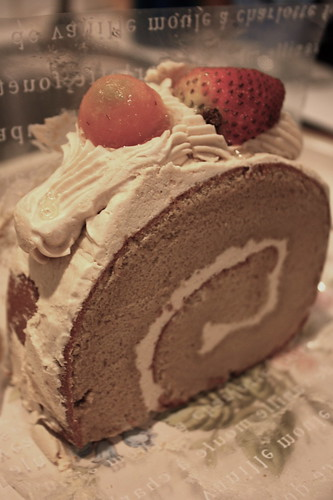 Mocha Cake With Buttercream Frosting And Hazelnut